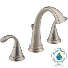Bathtub Drain Assembly Home Depot by Delta Zella 8 In Widespread 2 Handle Bathroom Faucet In Stainless