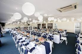 Reception Tables Nautical Beach Wedding In Coral And Navy Blue Jack