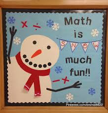 Snowman Winter Bulletin Board I Made Original Pin Emily Schoenfeld Kester Math ClassroomPreschool BoardsJanuary