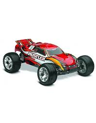 TRA37054-1_RED RUSTLER: 1/10 SCALE STADIUM TRUCK WITH TQ 2.4 GHZ ...
