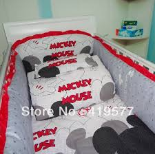 customize mickey mouse crib bedding 100 cotton eight set series