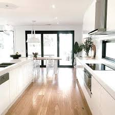 Ideas For Open Plan Kitchen And Living Areas White Dining Room With French