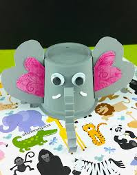 Easy To Make K Cup Elephant Craft For Kids