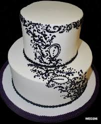 WED296 2 tier round wedding cake with angled continuous scrollwork edited 2 266 2