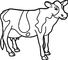 Coloring Pages Disney Pdf Cow Farm Animal Page Color For Adults Hearts Online Animals Full