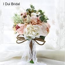 Rustic Wedding Bouquet Pale Pink Ivory Bridal Flower Vintage