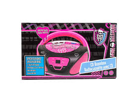 Bedroom Boom Mp3 by Monster High Boombox Portable Stereo Cd Player Amazon Co Uk Tv