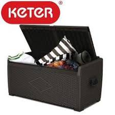 Keter Glenwood Deck Box Assembly by Keter Rockwood Storage Box Anthracite Grey Outdoor Storage Box