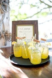 Rustic Southern Outdoor Wedding Reception Specialty Mason Jar Drinks