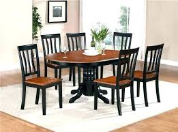 Dining Tables With Chairs Table Real Wood Kitchen Tone Oval And