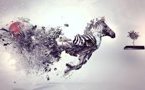Abstract Zebra Art Wallpaper