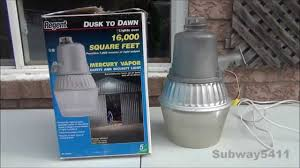 regent nh 1204m 175 watt mercury vapor security light loud