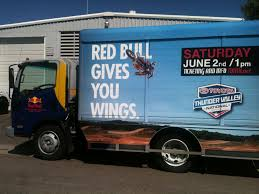 Red Bull Truck Wrap. Red Bull Gives You Wings | Ink Monstr - Vehicle ...