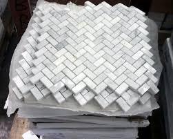 kitchen demo marble mosaic tile