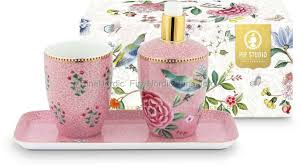 pip studio bad accessoires set floral morning pink