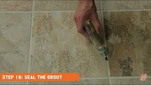 installing ceramic and porcelain floor tile step 16 seal the
