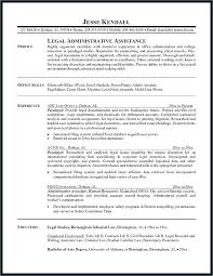 Paralegal Resume Example Sample Legal Secretary Free Job Cover Letter Examples Professional