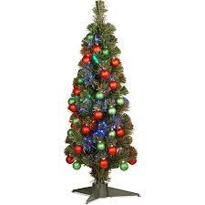 Get Quotations National Tree Pre Lit 36 Fiber Optic Fireworks Green Red Matte Shiny Ornament