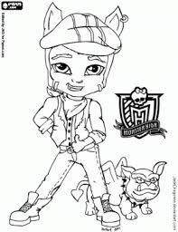 Monster High Clawd Wolf Coloring Page For Your Childs Themed Birthday Party Theme Or Just Fun