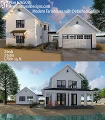 100 1700 Designer Residences Plan 62650DJ Modern Farmhouse Plan With 2 Beds And Semidetached