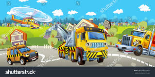 100 Tow Truck Games Cartoon Pilot Car Helicopter Stock Illustration 648396442