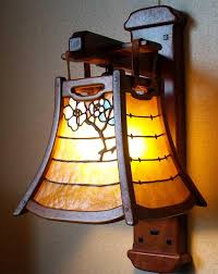 arts crafts greene and greene style wall sconce