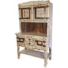 Mexican Kitchen Hutch This White Washed Painted Wood Will Enrich Any Old