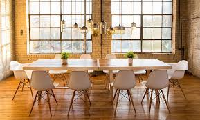 Designs IdeasDining Room Space With Solid Wood Table And Unique Chairs Also Pendant