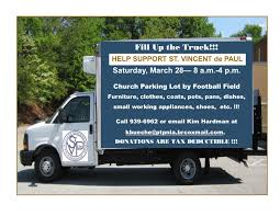 Fill Up The Truck St. Vincent DePaul Drive Parkinglot- A GREAT WAY ...