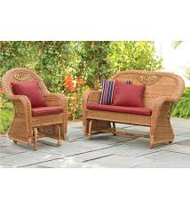 Patio Furniture Loveseat Glider by Prospect Hill Furniture Glider Set Patio Plow U0026 Hearth