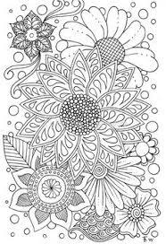 Flower Doodles Greeting Card By Tabitha Barnett