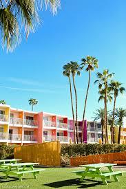 100 Sagauro Palm Springs Colorful Photoshoot At The Saguaro Hotel CA