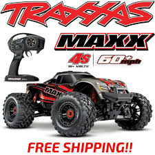 100 Truck Maxx Details About NEW TRAXXAS MAXX 4S BRUSHLESS 4WD 110 MONSTER TRUCK RED 60MPH FREE SHIPPING