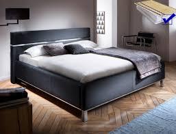 polsterbett baldur 180x200 schwarz doppelbett bett lattenrost matratze expendio