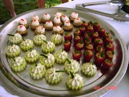 cucumber canapes cucumber wheels white fish mousse canapés b l t stuffed tomatoes