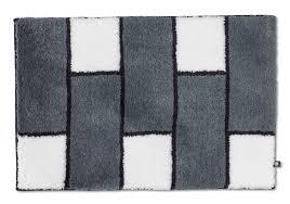 badteppich zink weiß schwarz badteppich nach maß