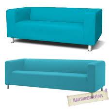 aqua cover slipcover to fit ikea klippan 2 or 4 seater sofa settee