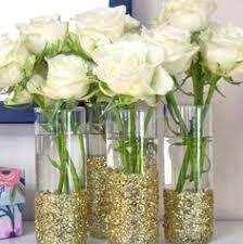 Glitter Vases for Wedding or Christmas Decorations DIY Vase