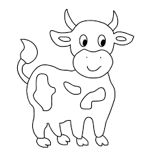 Cow Coloring Pages 7