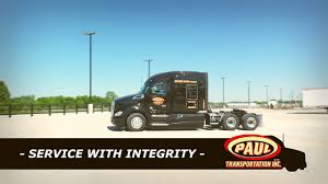 Truck Driving Jobs - Paul Transportation Inc. - Tulsa,OK - YouTube
