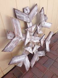 Scrap Wood Snowflakecould Be Lit By Drilling Holes For Each