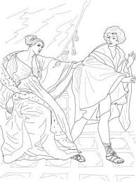 Joseph And Potiphar Bible Coloring Pages