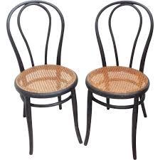 chaises thonet pair of chairs n 18 in blackened wood michael thonet 1960s