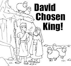 David Chosen King Coloring Page And Other OT Pages
