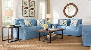 Cindy Crawford Beachside Denim Sofa by Cindy Crawford Home Beachside Blue 7 Pc Living Room Living Room