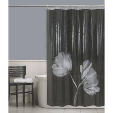 Walmart Bathroom Window Curtains by Cocoa Flower Shower Curtain Walmart Com