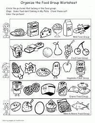 Cute Food Coloring Pages Group Worksheet