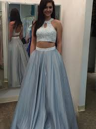 2 piece prom dresses long party dresses handmade prom dresses with