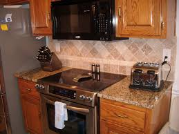 fair picture of small kitchen decoration using diagonal travertine