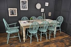 Shabby Chic Dining Room Furniture Uk by Large Double Drawer Shabby Chic 8 Seater Farmhouse Dining Set
